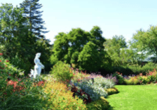 Image of a the formal garden at the Zoo