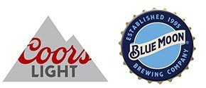 Logos for Coors and Blue Moon
