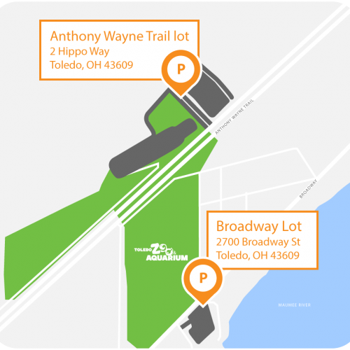 Anthony Wayne Trail lot, 2 Hippo Way, Toledo OH 43609 - Broadway Lot, 2700 Broadway St, Toledo OH 43309